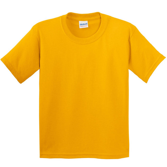Or - Back - Gildan - T-Shirt en coton - Enfant