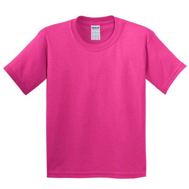 Rose - Back - Gildan - T-Shirt en coton - Enfant