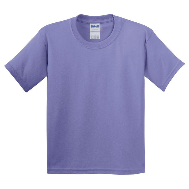 Rose clair - Side - Gildan - T-Shirt en coton - Enfant