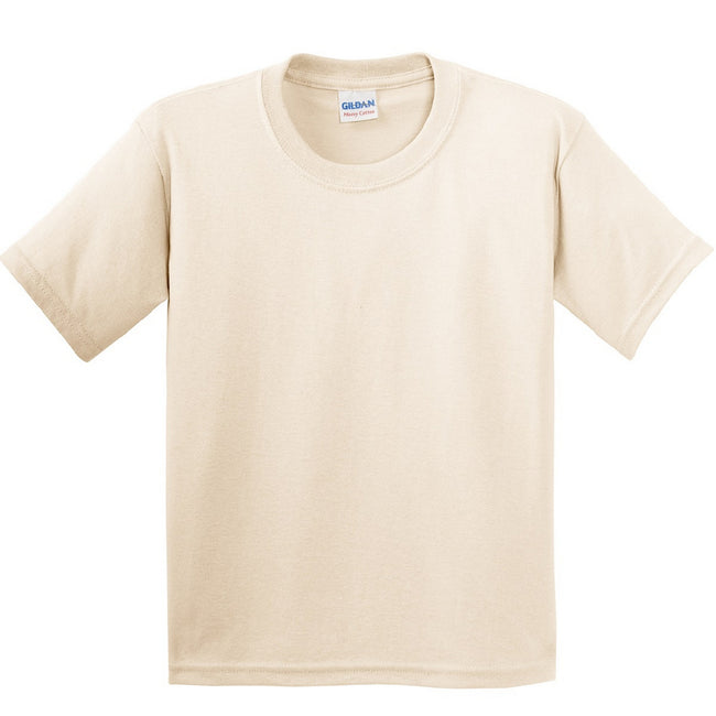 Naturel - Back - Gildan - T-Shirt en coton - Enfant