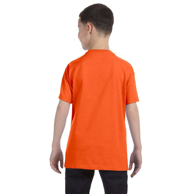 Orange - Side - Gildan - T-Shirt en coton - Enfant