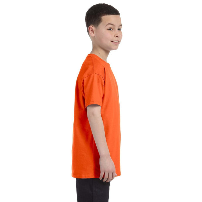 Orange - Lifestyle - Gildan - T-Shirt en coton - Enfant