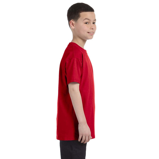 Rouge - Side - Gildan - T-Shirt en coton - Enfant