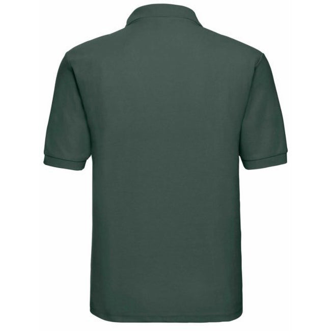 Vert bouteille - Back - Russell - Polo à manches courtes - Homme