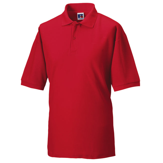 Rouge - Front - Russell - Polo à manches courtes - Homme