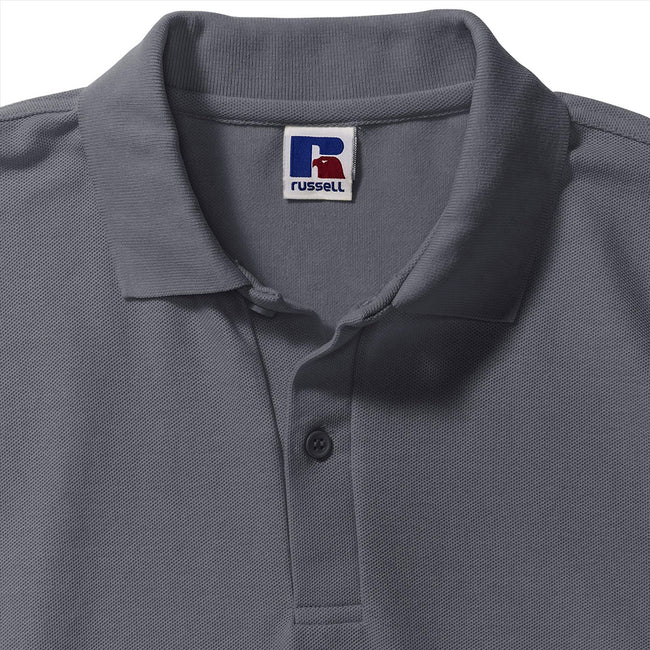Gris convoi - Back - Russell - Polo à manches courtes - Homme
