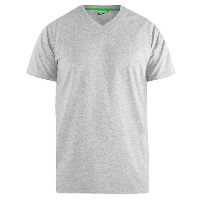 Gris - Back - Duke D555 Kingsize Signature - T-shirt en coton - Homme