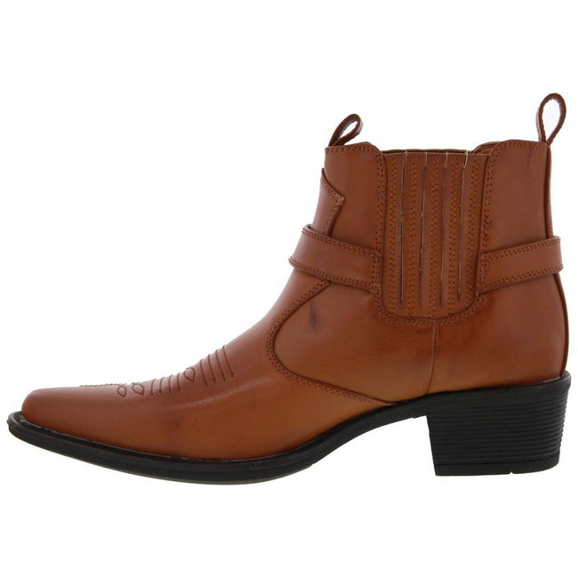 Marron - Back - US Brass Eastwood - Bottines style cowboy - Homme