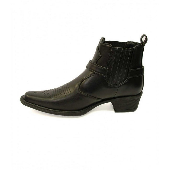 Noir - Back - US Brass Eastwood - Bottines style cowboy - Homme