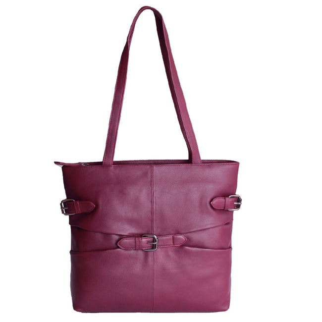 Bordeaux - Front - Eastern Counties Leather - Sac style tote Jill - Femme