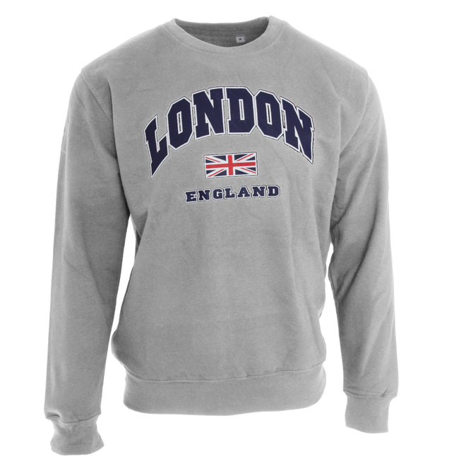 Gris sport - Front - Sweat London England - Adulte mixte