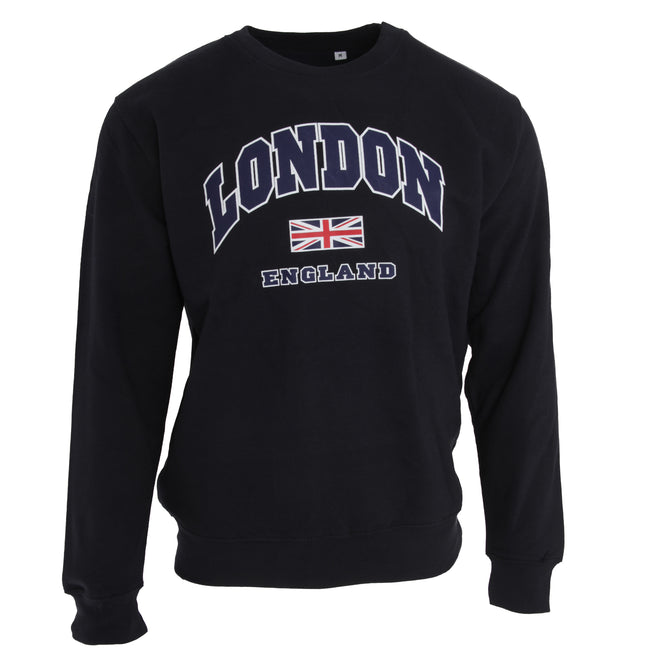Bleu marine - Front - Sweat London England - Adulte mixte