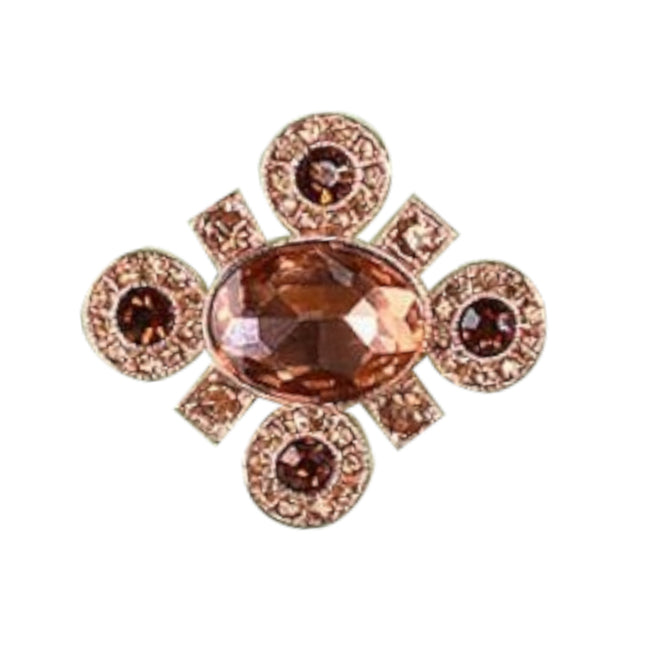 Or rose - Front - Fable - Broche - Femme
