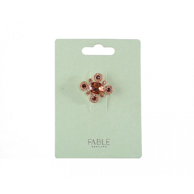Or rose - Back - Fable - Broche - Femme