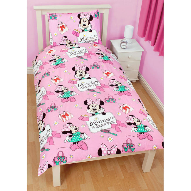 Disney Minnie - Parure de lit réversible pour lit simple ou double - Fille