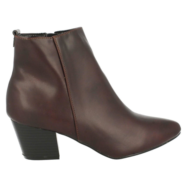 Bordeaux - Back - Spot On - Bottines à talon - Femme