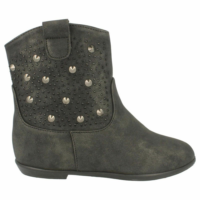 Noir - Side - Spot On - Bottines plates - Fille