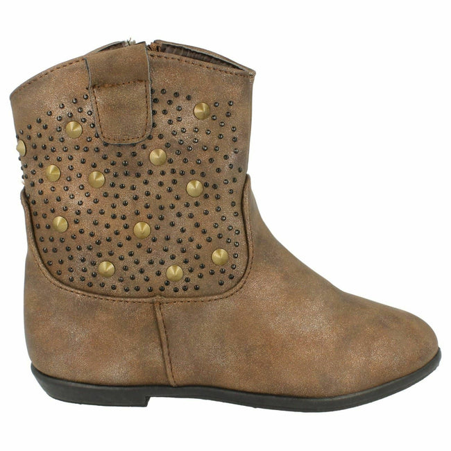 Marron - Side - Spot On - Bottines plates - Fille