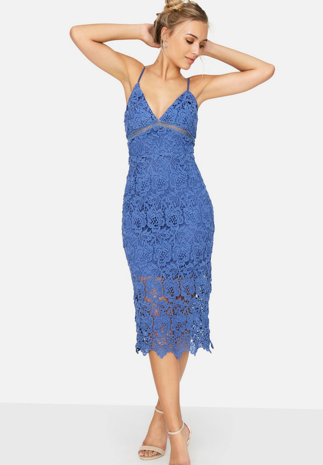 Bleu - Back - Girls On Film - Robe Crochet - Femme