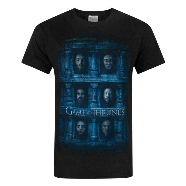 Noir - Front - Game Of Thrones Official Mens Hall Of Face T-Shirt