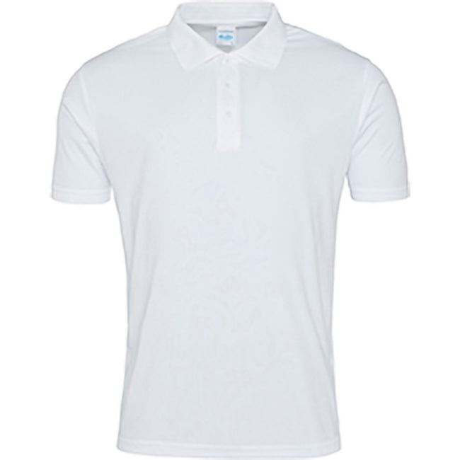 Blanc arctique - Back - AWDis Just Cool - Polo - Homme