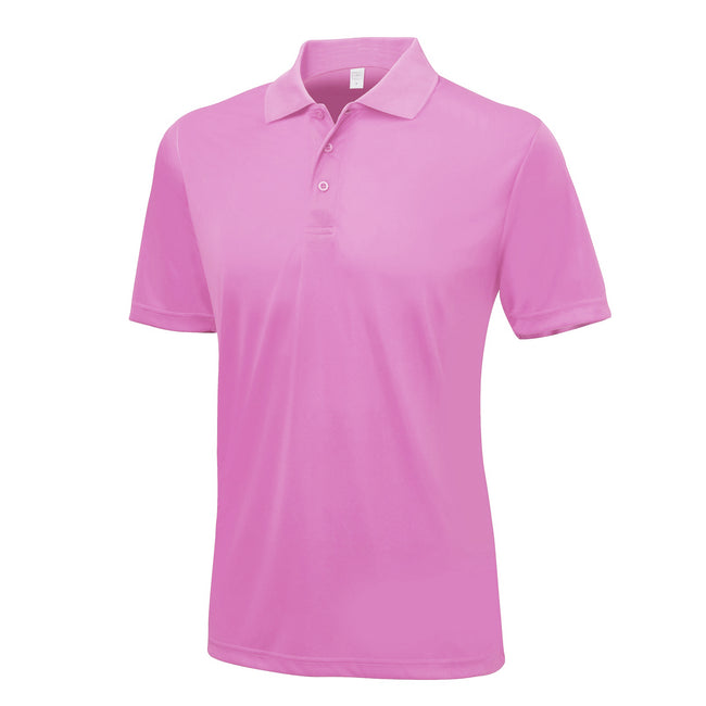 Rose - Front - AWDis Just Cool - Polo - Homme
