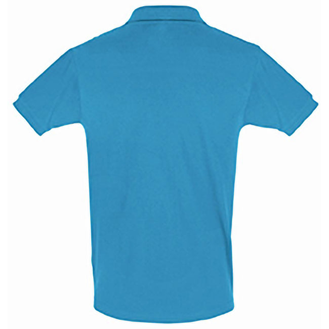 Bleu - Back - SOLS - Polo manches courtes PERFECT - Homme