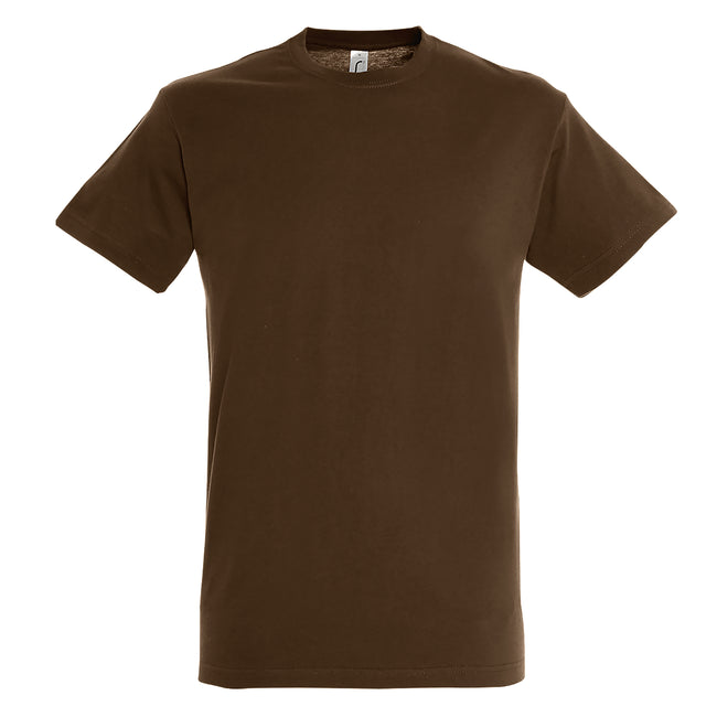 Marron - Side - SOLS - T-shirt REGENT - Homme