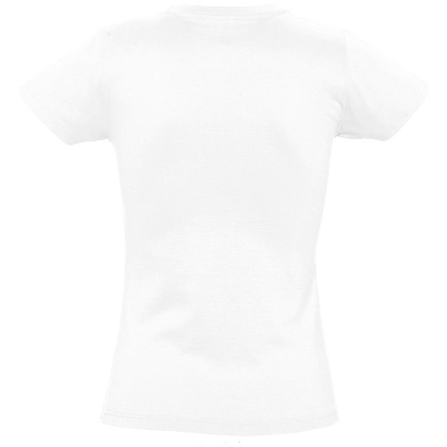 Blanc - Back - SOLS - T-shirt manches courtes IMPERIAL - Femme