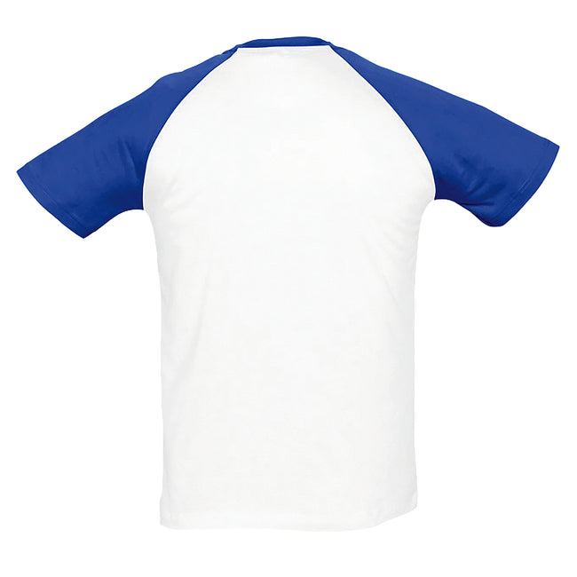 Blanc-orange - Side - SOLS - T-shirt manches courtes FUNKY - Homme