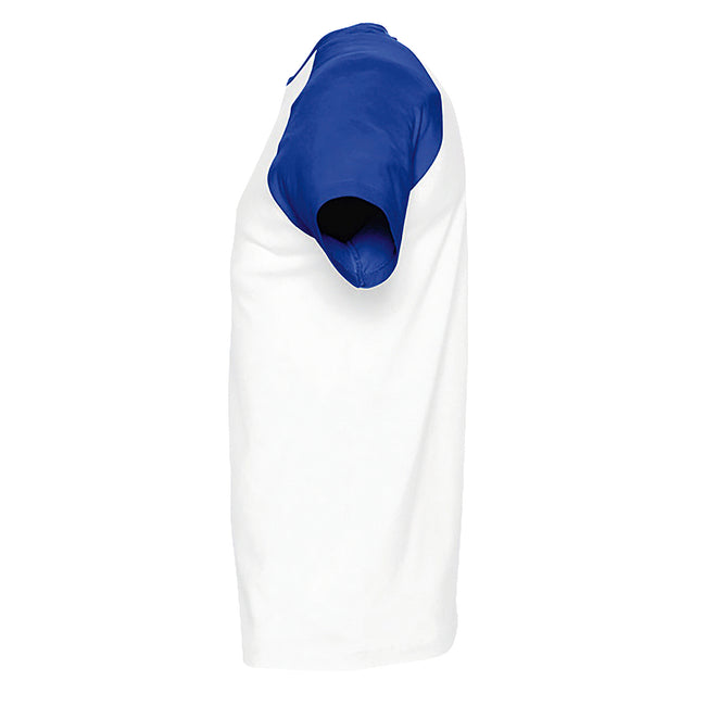 Blanc-bleu marine - Front - SOLS - T-shirt manches courtes FUNKY - Homme