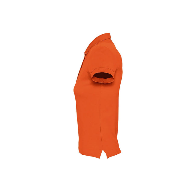 Orange - Back - SOLS Passion - Polo 100% coton à manches courtes - Femme