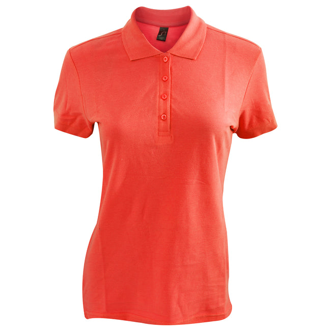 Orange - Side - SOLS Passion - Polo 100% coton à manches courtes - Femme