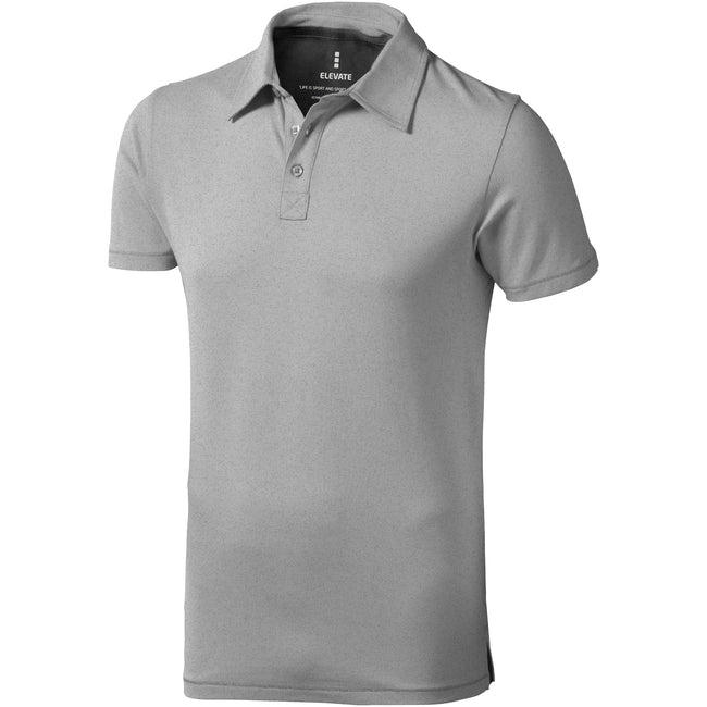 Gris - Front - Elevate - Polo manches courtes Markham - Homme
