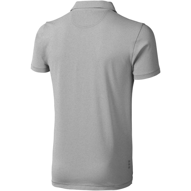 Gris - Back - Elevate - Polo manches courtes Markham - Homme