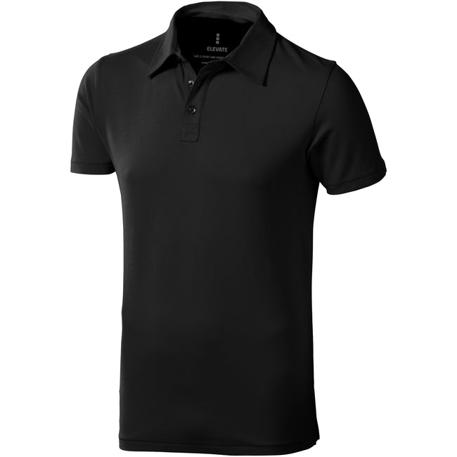 Anthracite - Front - Elevate - Polo manches courtes Markham - Homme