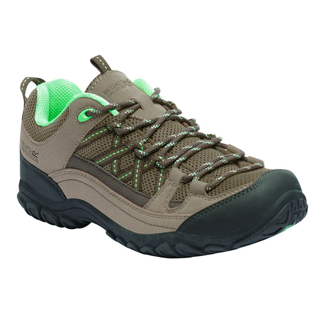 Marron - vert menthe - Front - Regatta Great Outdoors Womens-Ladies Edgepoint II Low Walking Shoes
