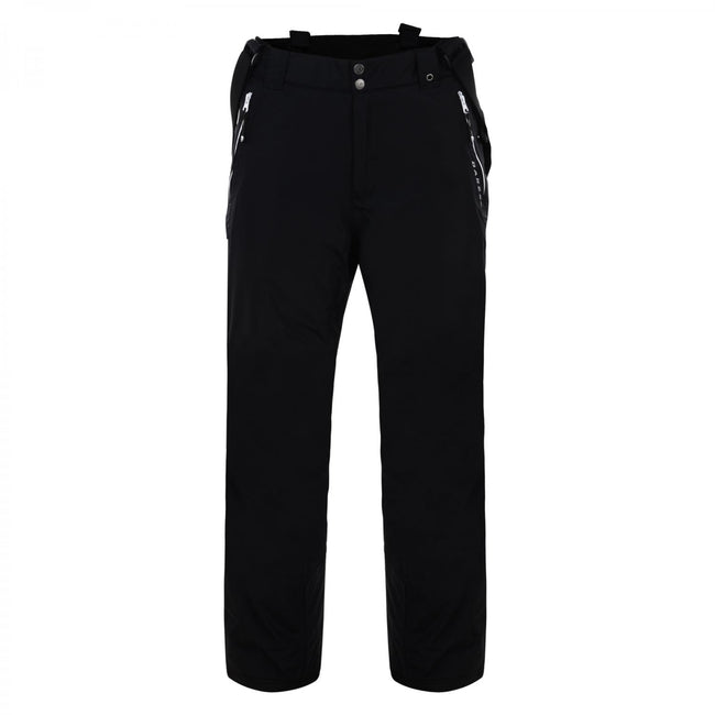 Noir - Front - Dare 2B Mens Keep Up II Over-Sized Waterproof Ski Trousers