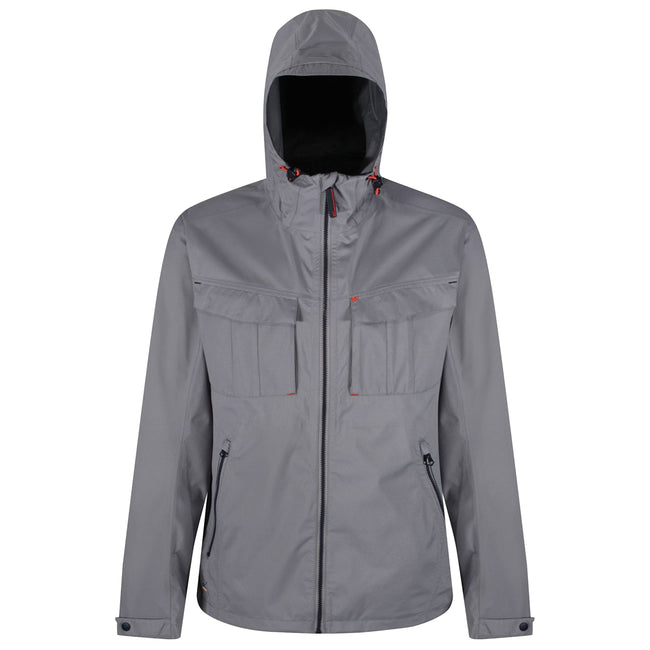Gris - Front - Regatta - Veste stretch et imperméable BARDOLF - Homme