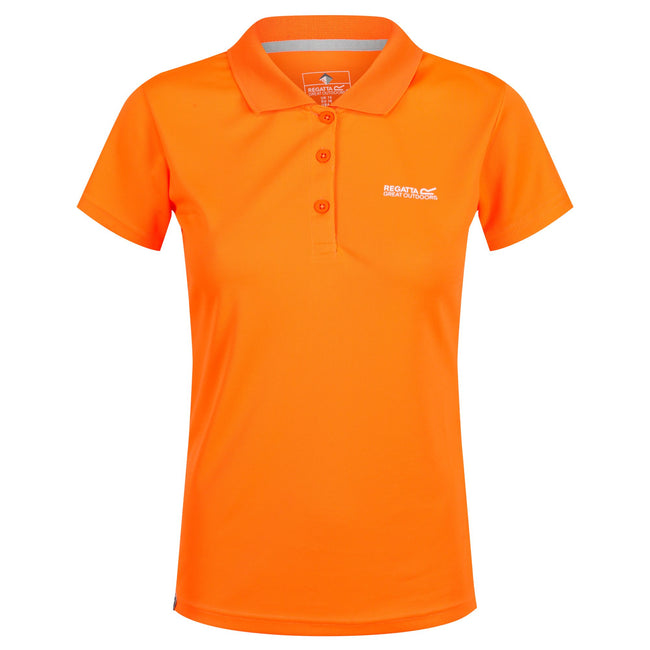 Orange - Back - Regatta Maverick IV - Polo - Femme