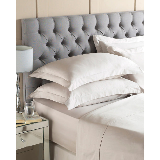 Taupe - Front - Riva Home 200 TC - Drap housse