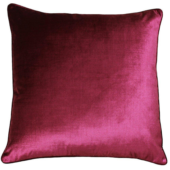 Rouge - Front - Riva Paoletti - Housse de coussin Luxe velours