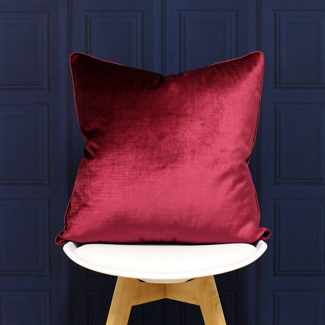 Rouge - Side - Riva Paoletti - Housse de coussin Luxe velours