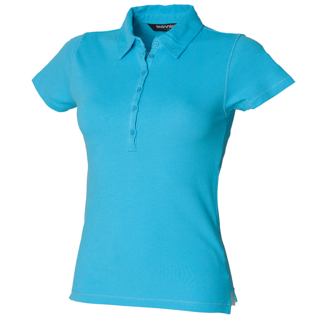 Bleu surf - Front - Skinni Fit - Polo - Femme