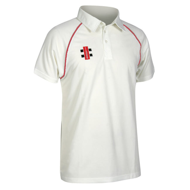 Ivoire-Rouge - Front - Gray-Nicolls Matrix - Polo de cricket à manches courtes - Homme