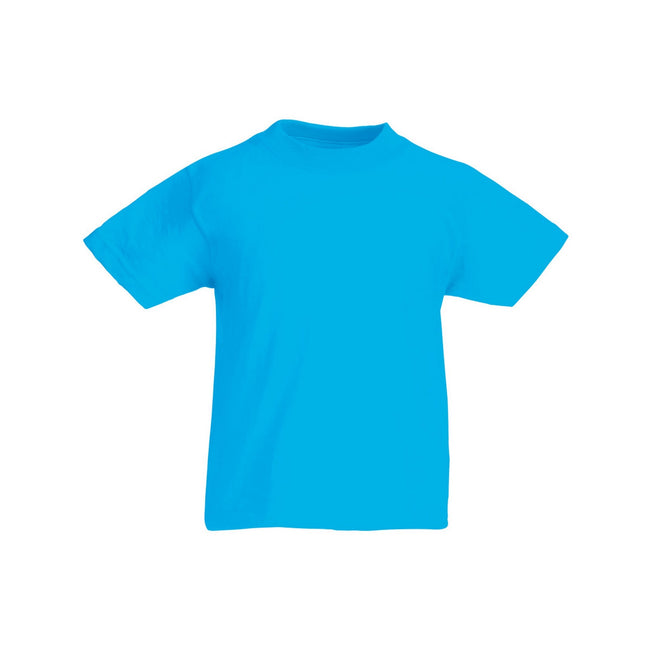 Bleu azur - Front - Fruit Of The Loom - T-shirt à manches courtes - Enfant unisexe