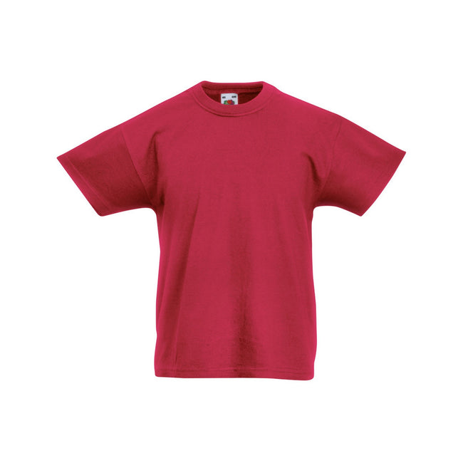 Rouge brique - Front - Fruit Of The Loom - T-shirt à manches courtes - Enfant unisexe