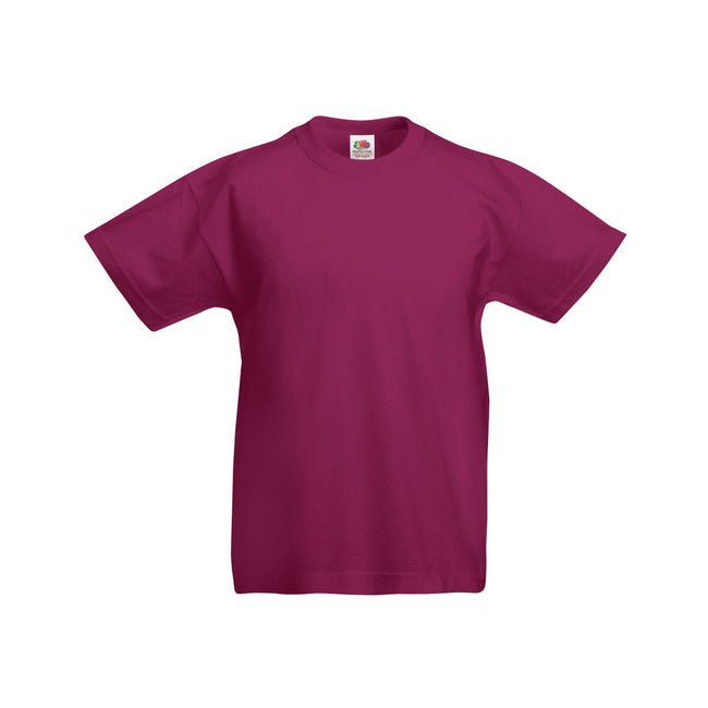 Bordeaux - Front - Fruit Of The Loom - T-shirt à manches courtes - Enfant unisexe