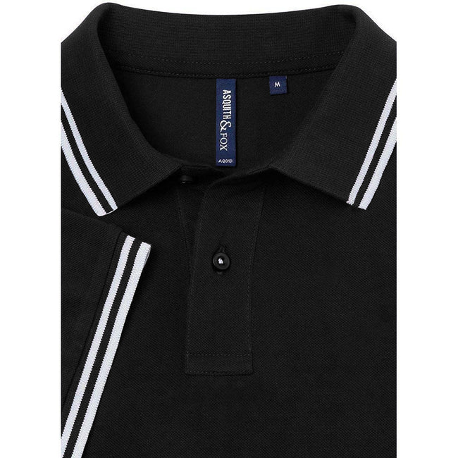 Noir-blanc - Back - Asquith & Fox - Polo - Homme
