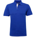 Bleu marine-Blanc - Front - Asquith & Fox - Polo classique - Homme